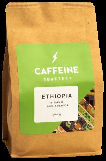 Ethiopia Sidamo  Päritolu: Etioopia Röst: filtrile/tassi Maitseprofiil: melon, lilleline, must tee Sort: Kurume, Dega, Wolisho Töötlus: pestud Kõrgus: 1800 m